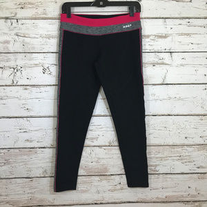Bebe Sport black pink cropped leggings